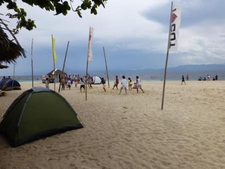 フィリピン  モアルボアルのホワイトビーチ