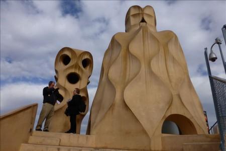 スペイン  カサ・ミラ、カサバトリョを見学_ガウディ建築 【バルセロナ】
