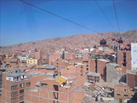 ボリビア  ロープウェイに乗ってラパスより標高の高い街へ