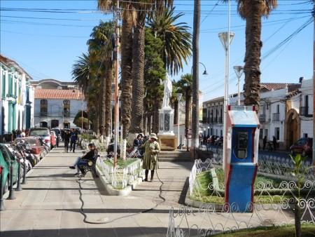 ボリビア  ウユニ ⇒ スクレへバス移動_世界遺産スクレの街をブラブラ散策
