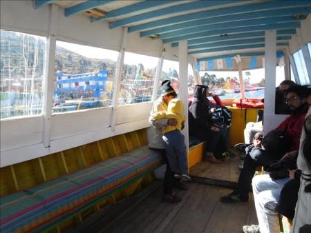 ボリビア  ラパス ⇒ コパカバーナのバス移動_今回も湖の上をバスが。。