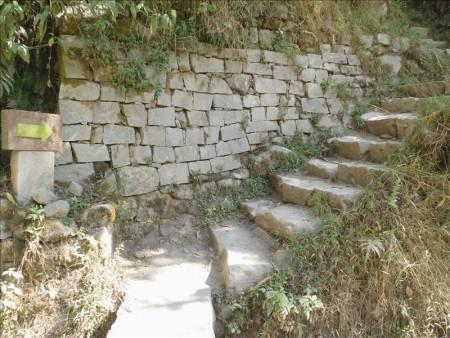 ペルー  歩いてマチュピチュ遺跡からマチュピチュ村へ