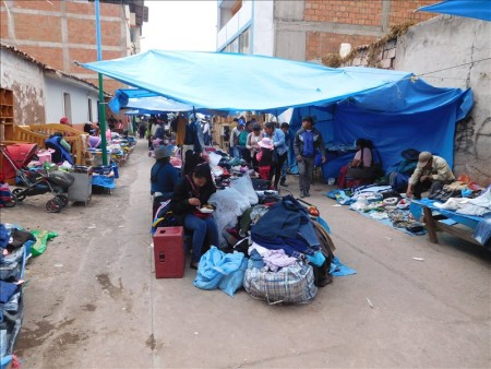 ペルー  クスコの青空市場を散策