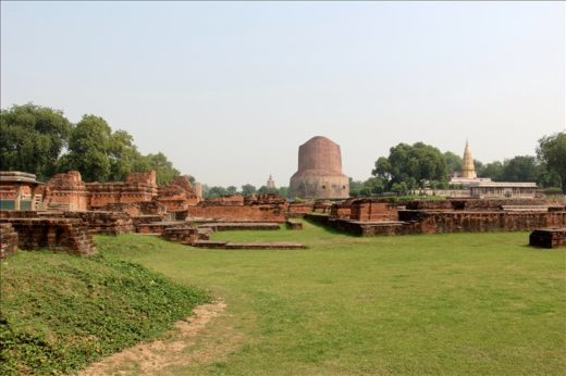 インド  仏教4大聖地「サールナート」_ダメーク・ストゥーパを見学【バラナシ】
