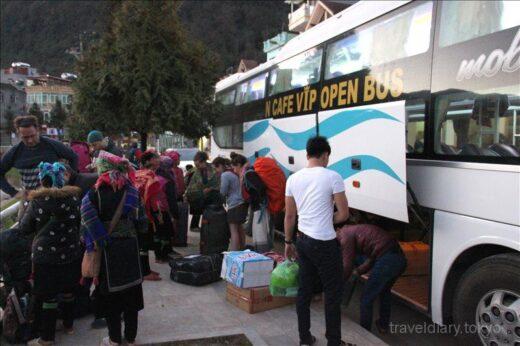 ベトナム  ハノイ ⇒ サパ 180度フルフラットシートの寝台バスで移動