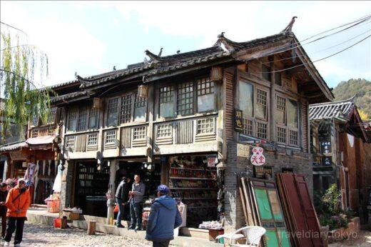 中国  麗江古城と共に世界遺産登録されている束河古鎮を見学【中国】