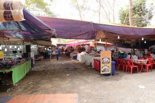 ラオス  ルアンナムターで小さな遊園地のあるマーケットを見学【ラオス】