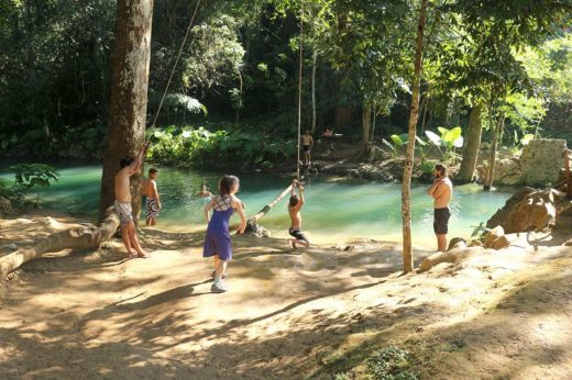 ラオス  これは凄い!クアンシーの滝でマイナスイオン浴びまくり【ラオス】