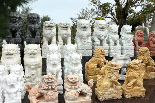 ベトナム  様々な大理石像が並ぶ美術館みたいな販売店【ダナン】