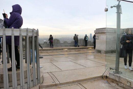 フランス  エトワール凱旋門_屋上テラスからの眺めはこんな感じ
